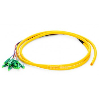 12 Color LC APC fiber Pigtail Bunch 12 Core 12 Fiber Bunch 9/125 Single Mode