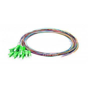 12 Colors SC/APC fiber Pigtail cable G657A 12 Cores 12 Fibers Simplex 9/125 Single Mode Pigtail 0.9mm