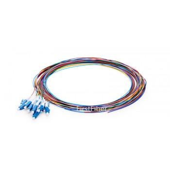 12 Colors LC/UPC fiber Pigtail cable G657A 12 Cores 12 Fibers Simplex 9/125 Single Mode Pigtail 0.9mm