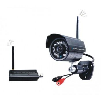 2.4GHz USB Digital Wireless CCTV Camera Kit 1pcs IR Night Vision camers+1pcs USB Receiver For Home Security