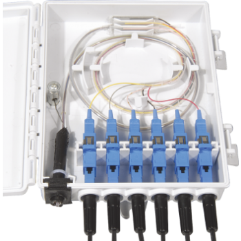 FF-FTB6A 6 Cores Optical Terminal Box (Max Capacity: 6 cores SC), Support Wall Mounting, 172*136*40mm