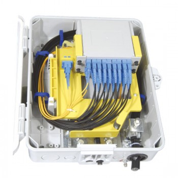 FFGFS-16B 16 Cores Optical Splitter Box (Max Capacity: 16 cores ), Wall Mounting, Pole Mounting, Support Cable Uncuting, 340x265x120mm