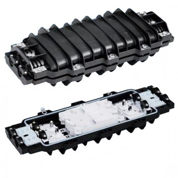 FFJ09H4-B Horizontal Fiber Optic Splice Closure, 2 Ports in, 2 Ports out, for Ф10~20 Optical Cable