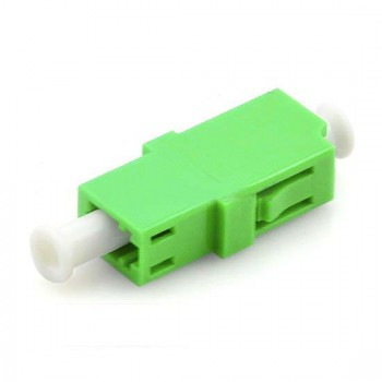 Mating sleeve adaptor, LC/APC & LC/APC connecting port, simplex, rectangle shape, zirconia internal tube, metal material