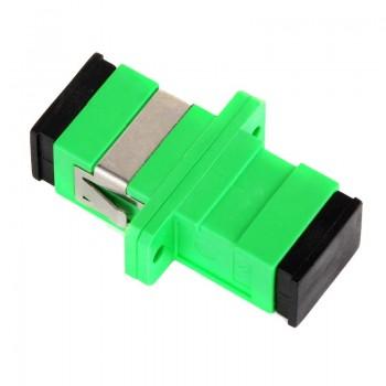 Mating sleeve adaptor, SC/APC & SC/APC connecting port, simplex, rectangle shape, zirconia internal tube