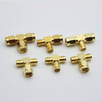 SMA Triple T Type RF Connector Splitter 3 Ways
