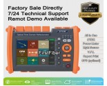 2019 New PRO Fiber Optic OTDR Reflectometer with OPM OLS VFL functions, Report Printed, Touch Screen, FC SC ST Connectors