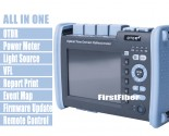 FF-990PRO-Q1 Fiber Optic OTDR SM MM 850/1300/1310/1550nm Reflectometer Built VFL OPM OLS Touch Screen With SC ST FC LC Connector