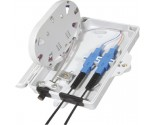 FF-FTB2A 2 Cores Optical Terminal Box (Max Capacity: 2 cores SC), Support Wall Mounting, 180*127*37mm