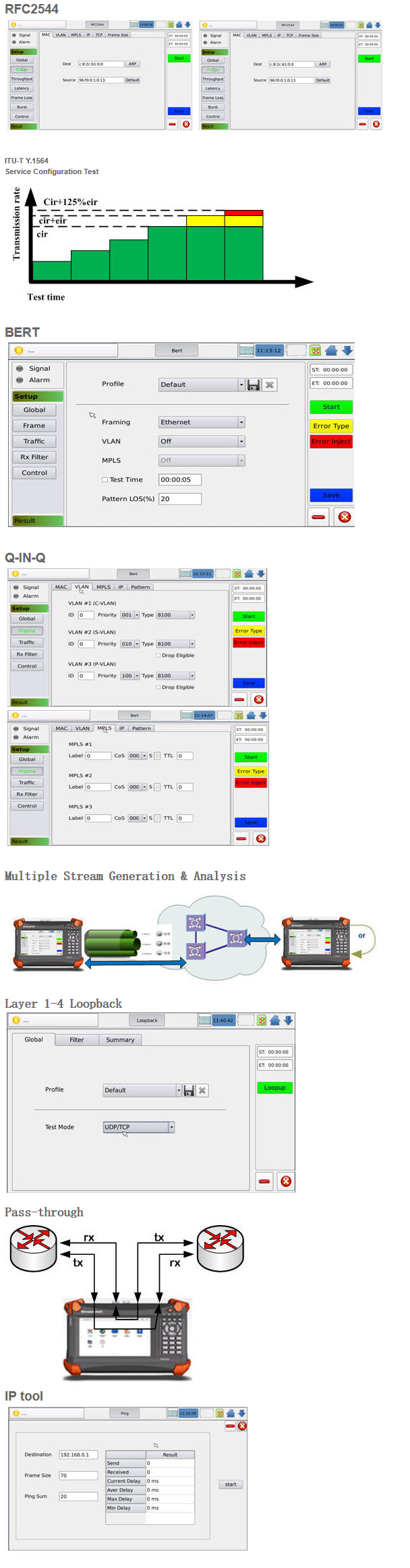 XGT-200 10G Ethernet Tester