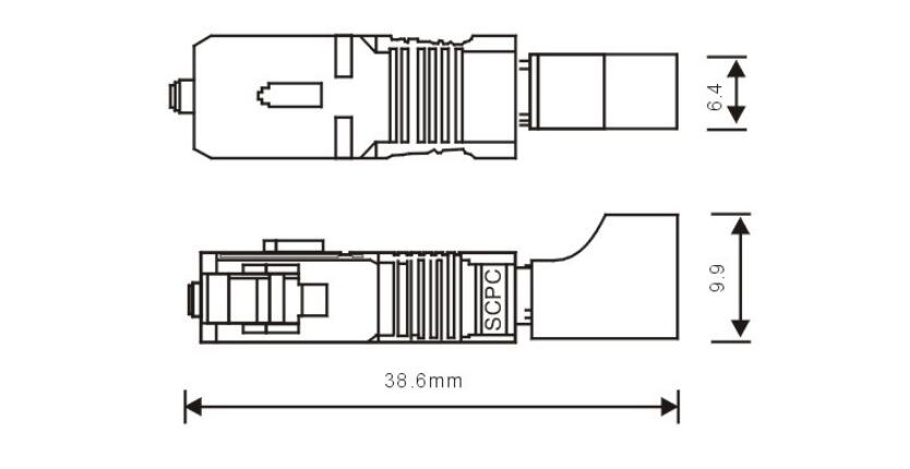 LC Female to SC Male Adapter Connector Coupler Jointer