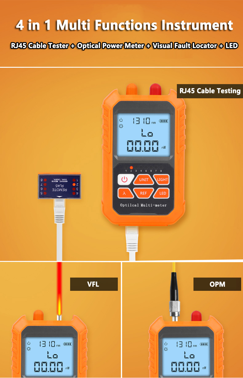 OPM VFL RJ45 Cable Testing