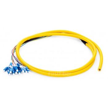 12 Color LC UPC fiber Pigtail Bunch 12 Core 12 Fiber Bunch 9/125 Single Mode