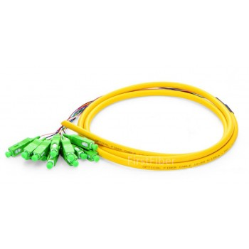 12 Color SC APC fiber Pigtail Bunch 12 Core 12 Fiber Bunch 9/125 Single Mode