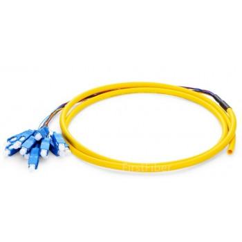12 Color SC UPC fiber Pigtail Bunch 12 Core 12 Fiber Bunch 9/125 Single Mode