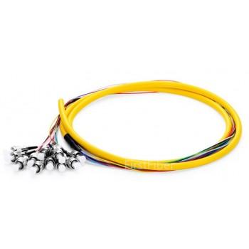 12 Color ST UPC fiber Pigtail Bunch 12 Core 12 Fiber Bunch 9/125 Single Mode