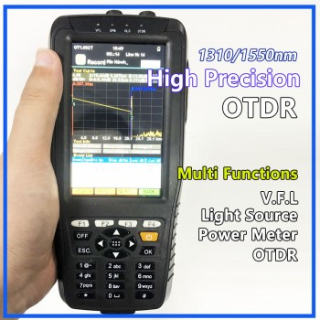 High Precision OTDR Tester Optical Time Domain Reflectometer 4 in 1 OPM OLS VFL Touch Screen 3m to 60km Range Optical Instruments