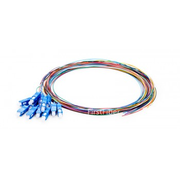 12 Colors SC/UPC fiber Pigtail cable G657A 12 Cores 12 Fibers Simplex 9/125 Single Mode Pigtail 0.9mm