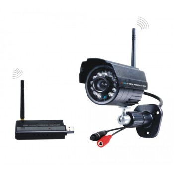2.4GHz USB Digital Wireless CCTV Camera Kit 1pcs IR Night Vision camers+1pcs USB Receiver For Home Security