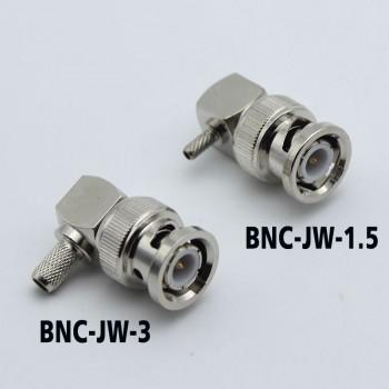 BNC Elbow Connector BNC-JW-1.5 BNC-JW-3 for 50-3 RG142 316 Feeder Cable