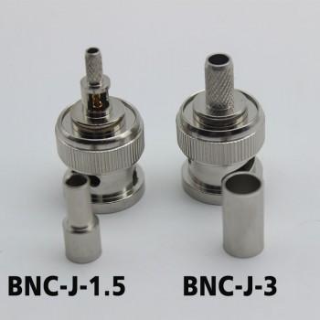 BNC Connector BNC-J-1.5 BNC-J-3 for 50-3 RG142 316 Coaxial Cable