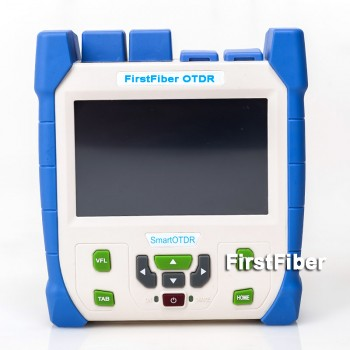 FF90D28 Fiber Optic OTDR Reflectometer 28/26dB 130km, with Carrying Bag, FC/SC/ST Connectors, Touch Screen, Event Map & Software