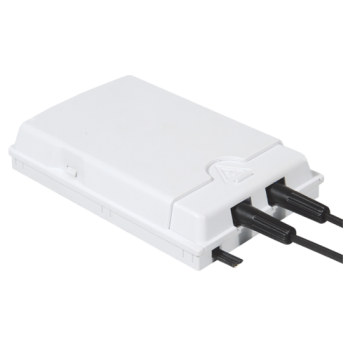 FF-FOS2A 2 Cores FTTH Fiber Socket (Max Capacity: 2 cores ), Wall Mounting, 84x130x24mm