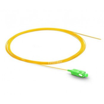 SC APC fiber Pigtail Simplex 9/125 Single Mode Fiber Optic Pigtail 0.9mm Jacket