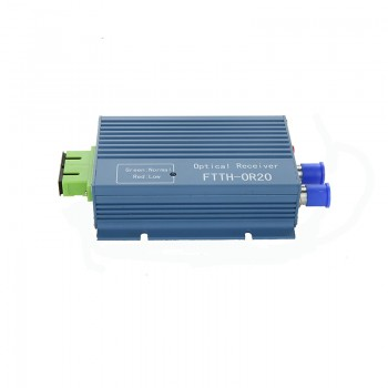 GPON FTTH optical receiver with WDM /micro WDM optical node SC APC Duplex Connector with 2 output WDM for PON FTTH OR20 CATV