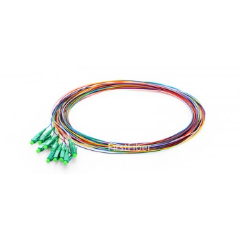 12 Colors LC/APC fiber Pigtail cable G657A 12 Cores 12 Fibers Simplex 9/125 Single Mode Pigtail 0.9mm