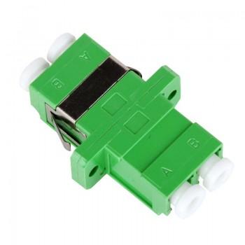 Mating sleeve adaptor, LC/APC & LC/APC connecting port, duplex, rectangle shape, zirconia internal tube