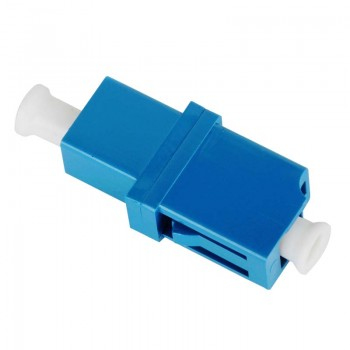 Mating sleeve adaptor, LC/UPC & LC/UPC connecting port, simplex, rectangle shape, zirconia internal tube, metal material