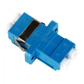 Mating sleeve adaptor, LC/UPC & LC/UPC connecting port, duplex, rectangle shape, zirconia internal tube