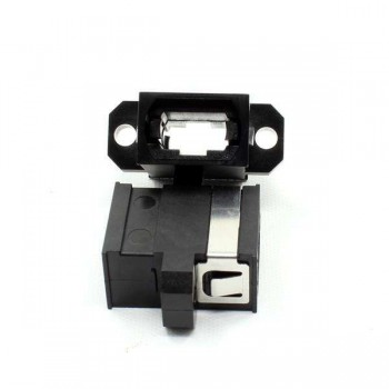 MTP/MPO Full Flange Black Fiber Optic Adapter