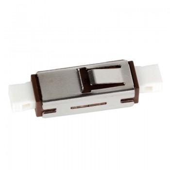 Mating sleeve adapter, MU & MU connecting port, simplex, rectangle shape, zirconia internal tube, metal material