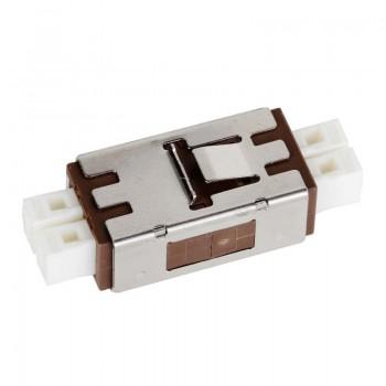 Mating sleeve adaptor, MU & MU connecting port, duplex, rectangle shape, zirconia internal tube, metal material