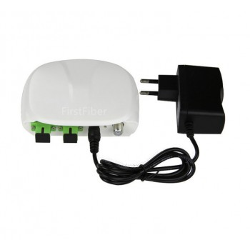 SC Fiber Optical FTTH optical receiver with WDM and AGC Mini Node Indoor Optical Receiver with white plastic case