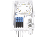 FF-FTB4A 4 Cores Optical Terminal Box (Max Capacity: 4 cores SC), Support Wall Mounting, 191*120*44mm