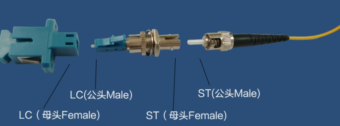 ST Female to LC Male Adapter