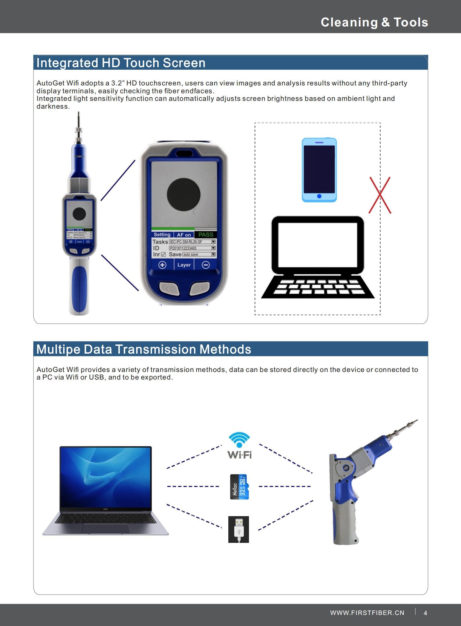 AutoGet Wifi fiber inspection